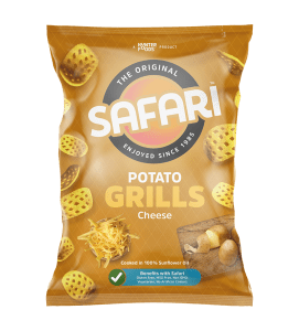 safari potato grills cheese chips pack