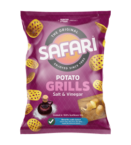 safari potato grills salt and vinegar chips pack